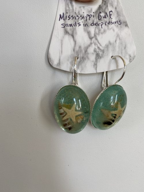 Close up view of Mississippi Gulf Sand Earrings