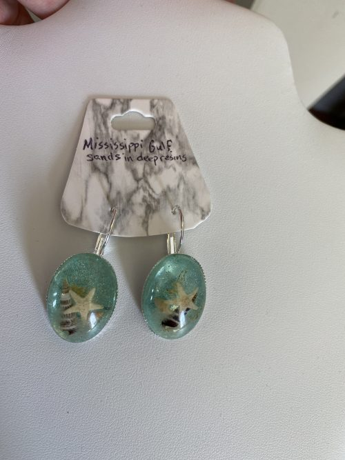 Another view of Mississippi Gulf Sand Earrings