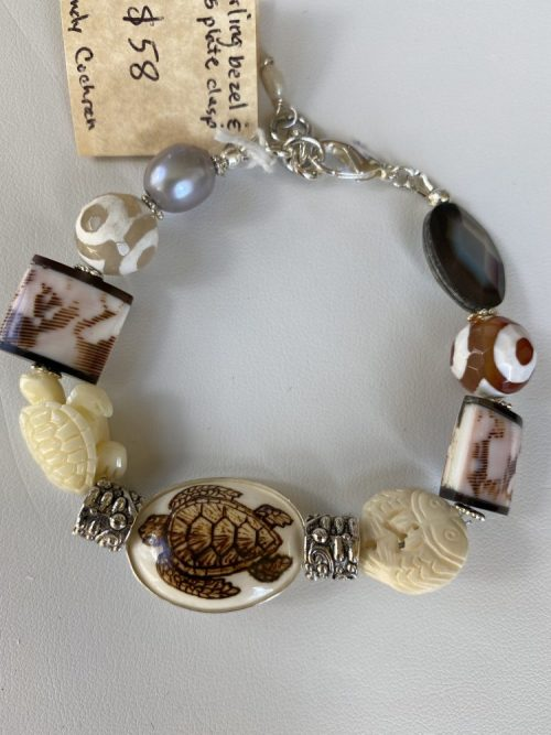 Close up view of Turtle Bracelet