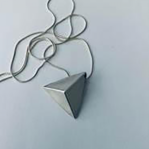 Pyramid Of Love Sterling Silver Pendant
