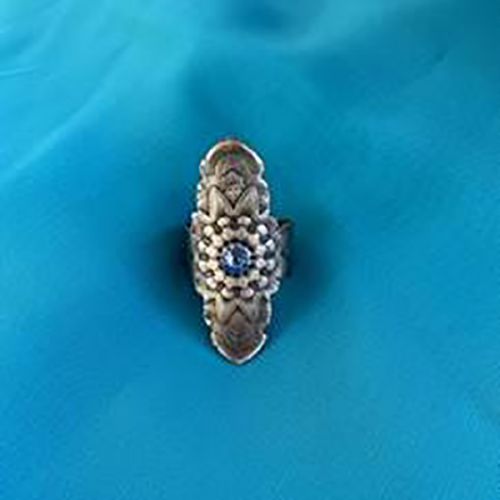 Blue Mandala Ring
