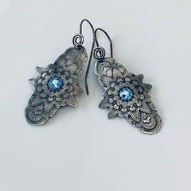 Blue Manada Earrings