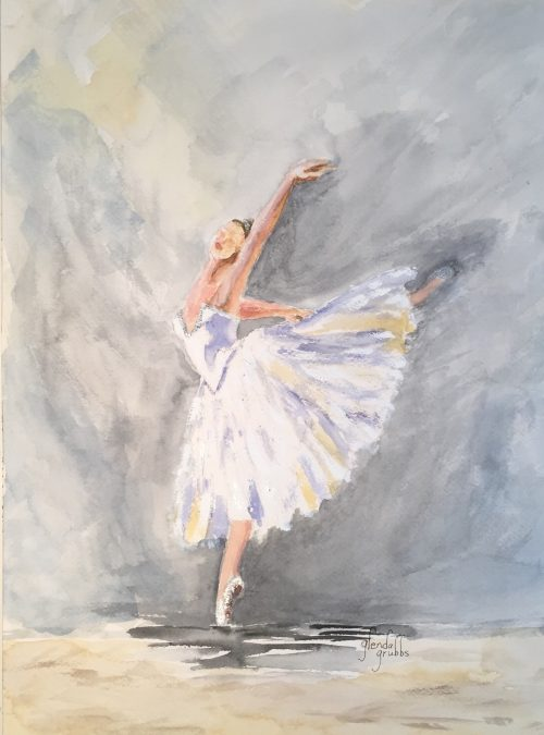 Ballet in Silver paintaing