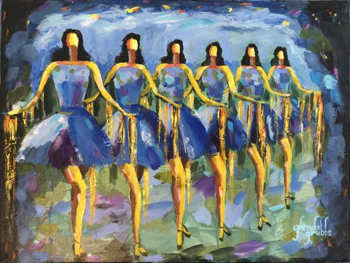 Dancing the Blues Away painting