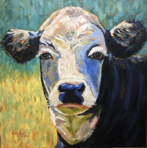 Moo-dy Blues painting