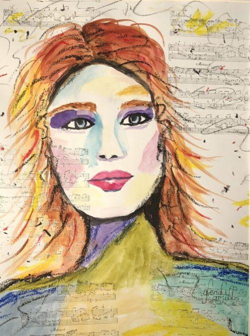 Music Mama Rocker painting