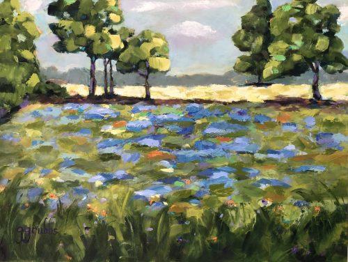 Texas Bluebonnets painting